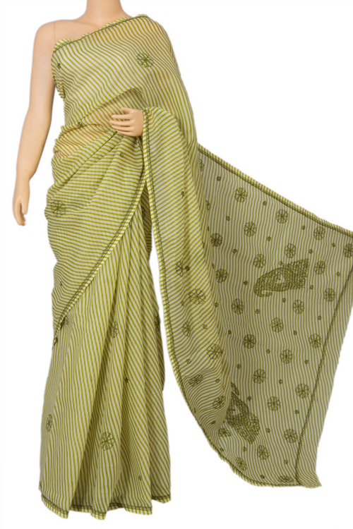Green JP Munga Kota Printed Cotton Saree MC60017