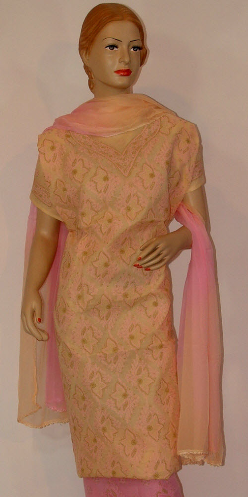 Chikankari Salwar Kameez Cotton (Unstitched) 10083