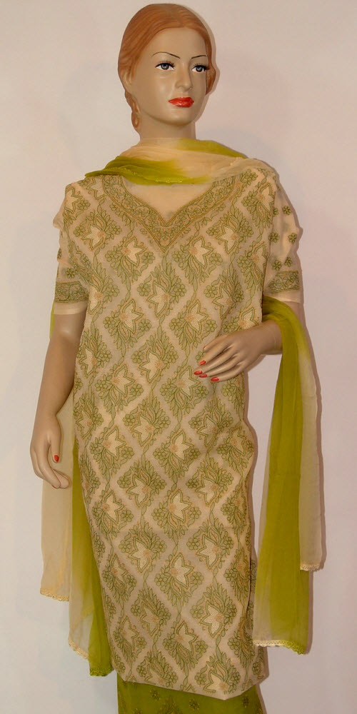 Chikankari Salwar Kameez Cotton (Unstitched) 10084