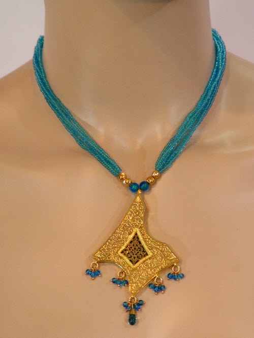 Traditional Thewa Pendant Set 10286
