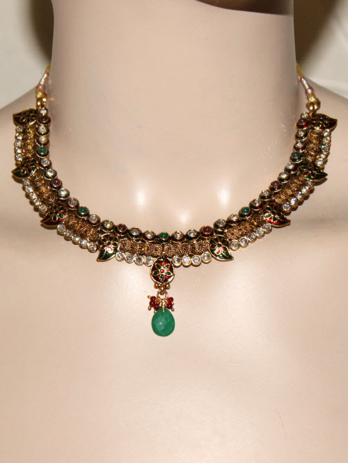 Designer Kantha Necklace Set 10336