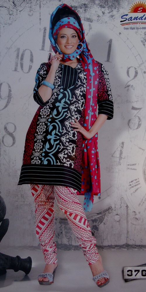 Designer Cotton Printed Suit Un-stitched 10388