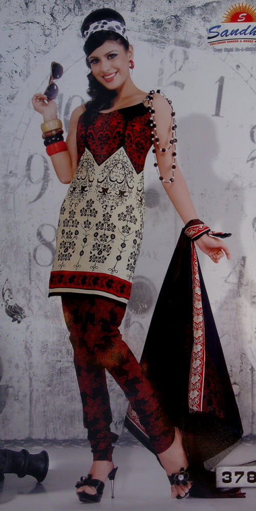 Designer Cotton Printed Suit Un-stitched 10390