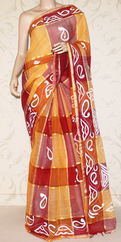 Bengal Handloom Cotton Saree (Hand printed) 10637