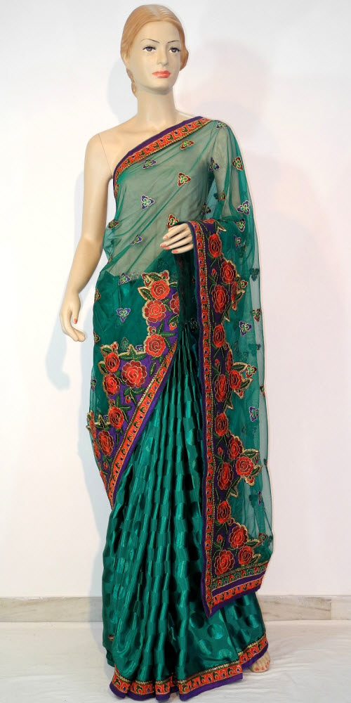Designer Embroidered Saree 10677
