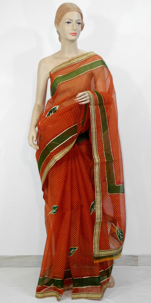 Traditional Kota Cotton Saree (Gota Patti) 10727