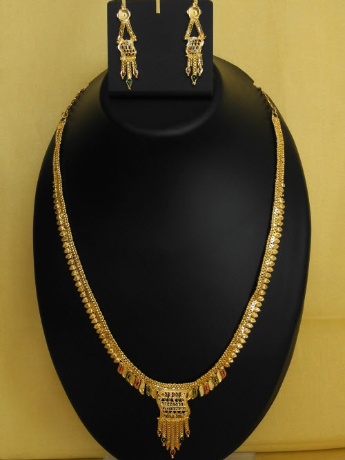 23.5 Carat Gold-Plated Necklace Set 10821