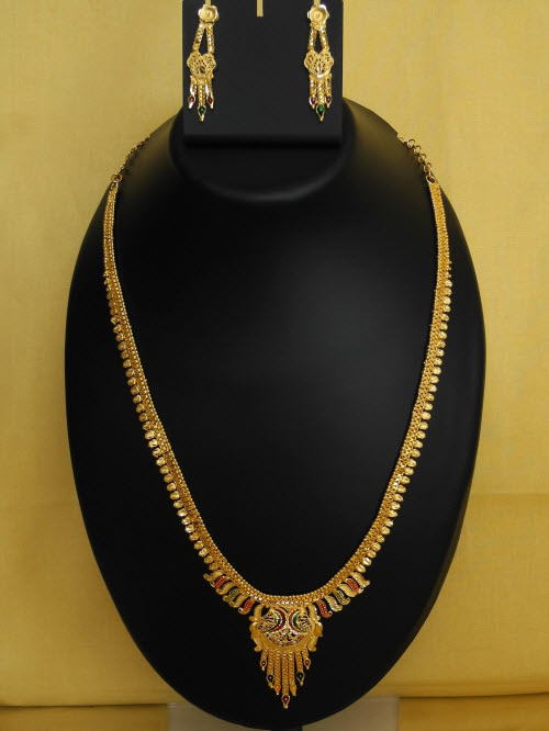 23.5 Carat Gold-Plated Necklace Set 10823