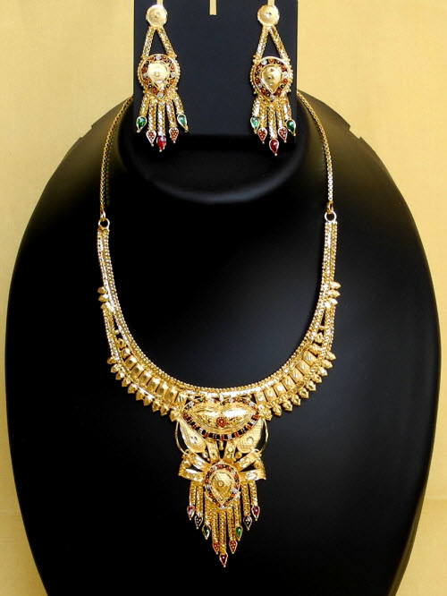 23.5 Carat Gold-Plated Necklace Set 10826