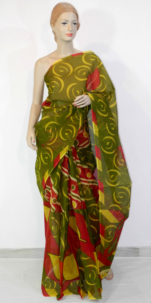 Real JP Kota Doria Printed Cotton Saree 11117