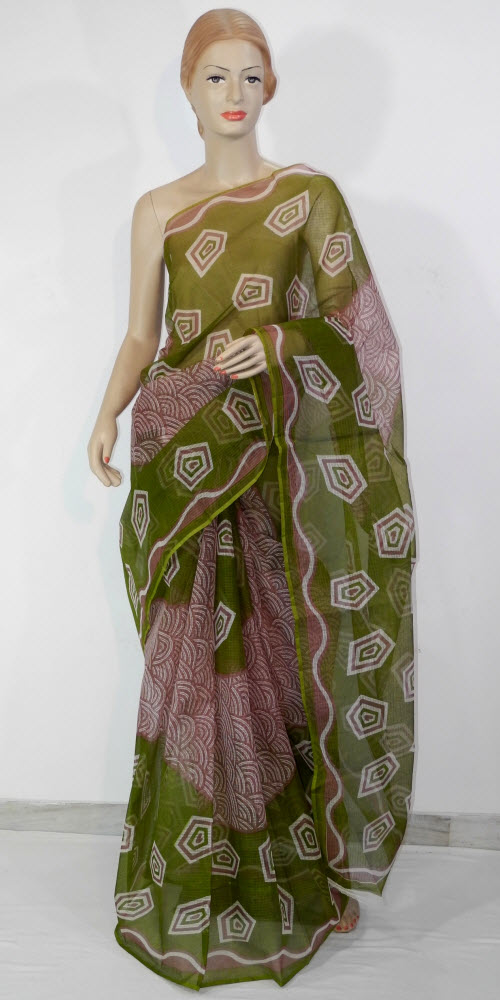 Printed JP Kota Doria Saree (Cotton) 11123
