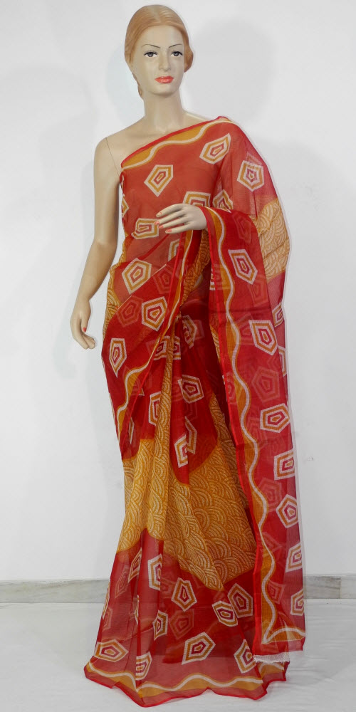 Printed JP Kota Doria Saree (Cotton) 11124