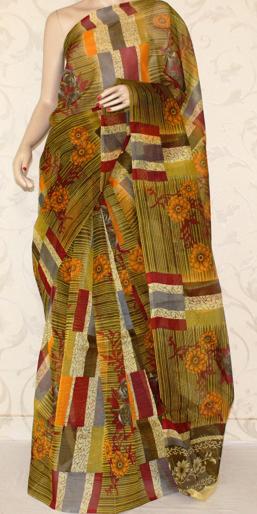 Exclusive Supernet Saree (Printed) 11125
