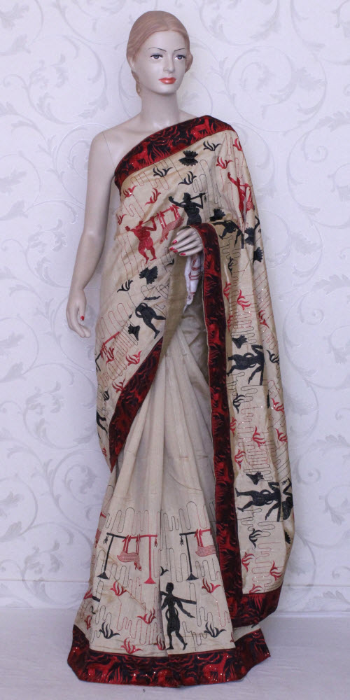 Designer Embroidered Saree 11178