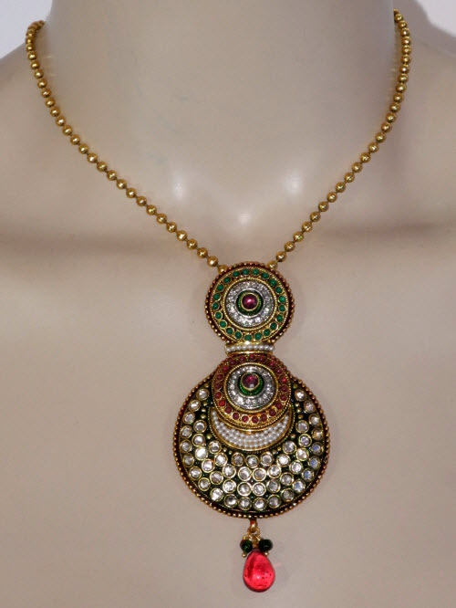Designer Antique Pendant Set 11188