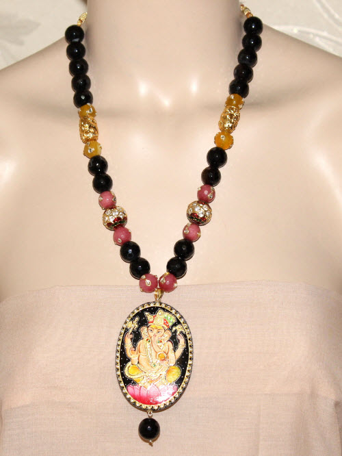 Designer Kantha Necklace Set 11191