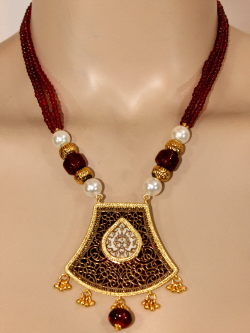 Traditional Thewa Pendant Set 11202