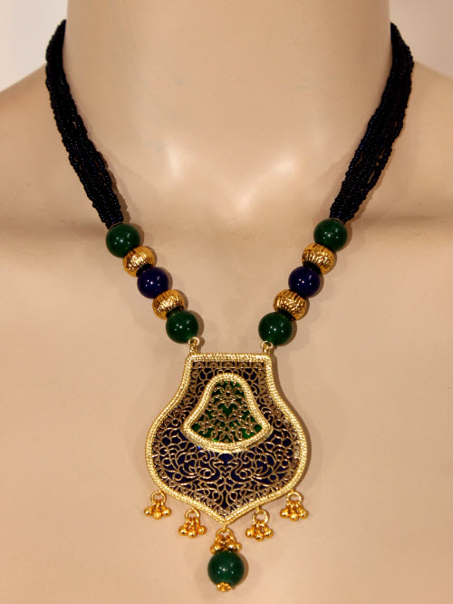 Traditional Thewa Pendant Set 11203
