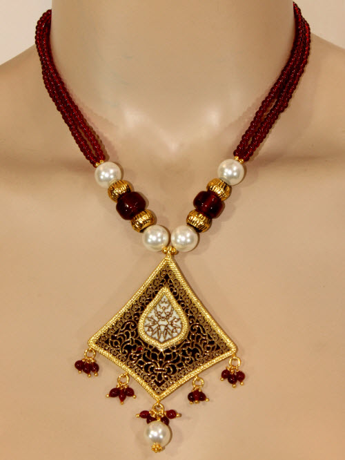 Traditional Thewa Pendant Set 11204