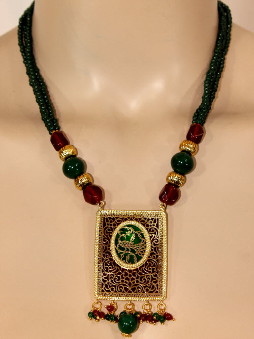 Traditional Thewa Pendant Set 11208