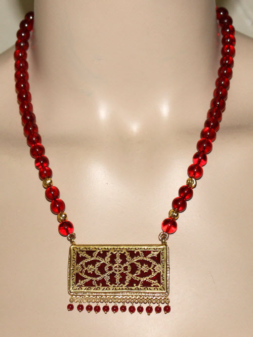 Traditional Thewa Pendant Set 11223