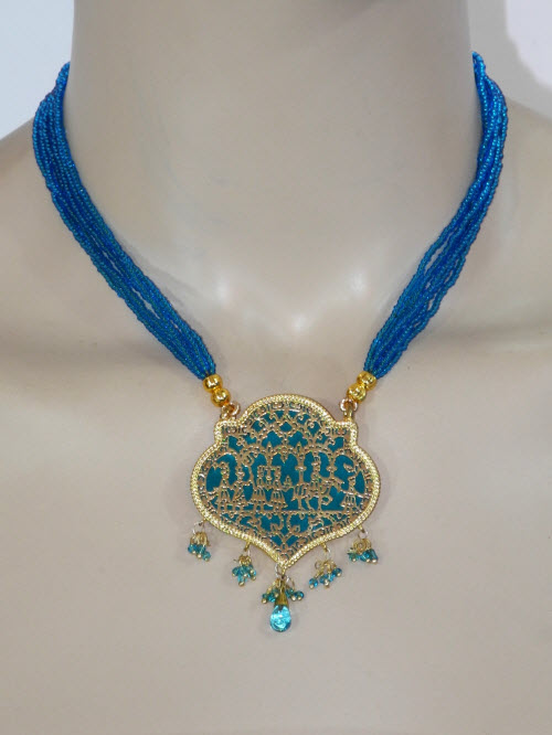 Traditional Thewa Pendant Set 11228