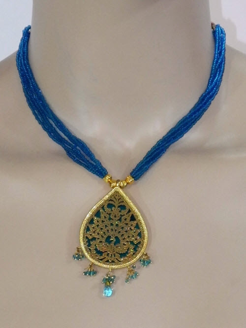 Traditional Thewa Pendant Set 11230