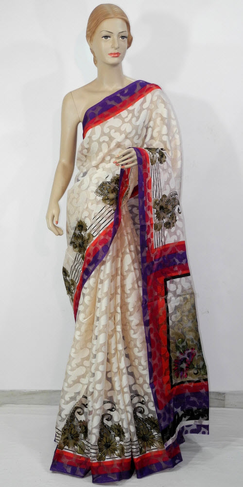 Exclusive Brasso Art Silk Saree 11285