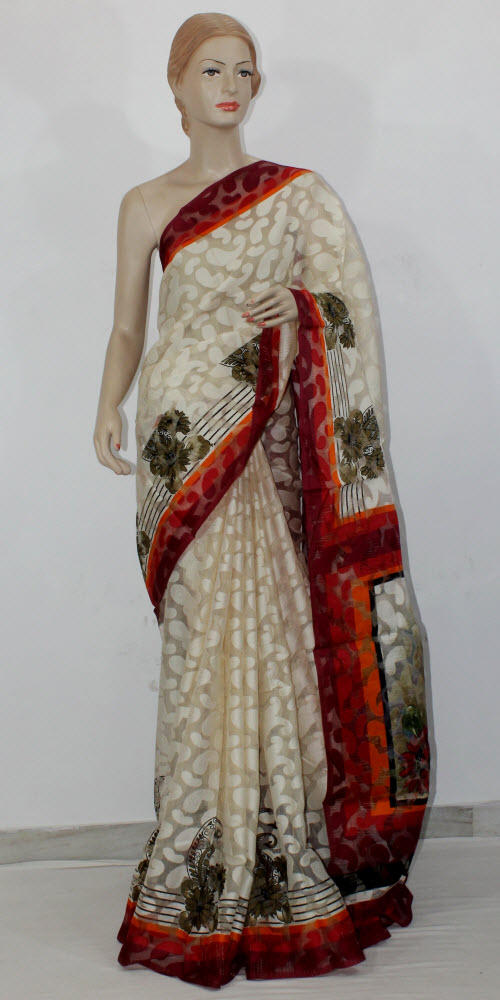 Exclusive Brasso Art Silk Saree 11289