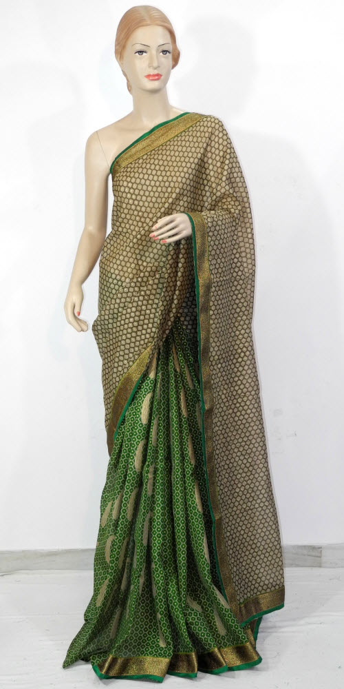 Exclusive Half-Half Art Silk Saree 11307