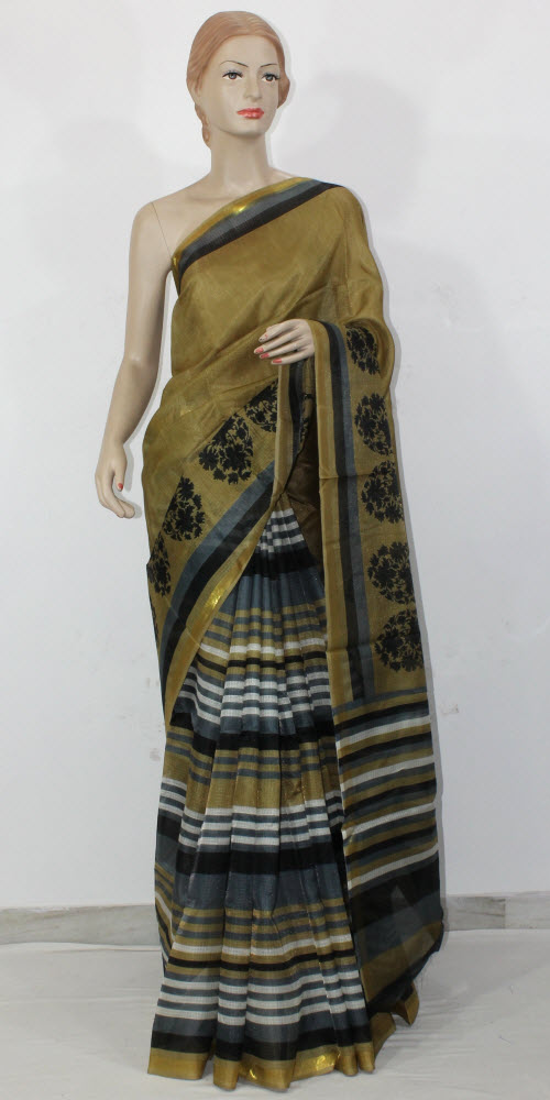 Exclusive Manipuri Check (Half-Half) Saree 11312