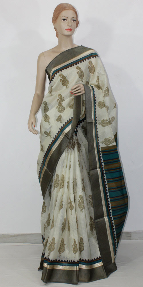 Exclusive Manipuri Check Block Print Saree 11320