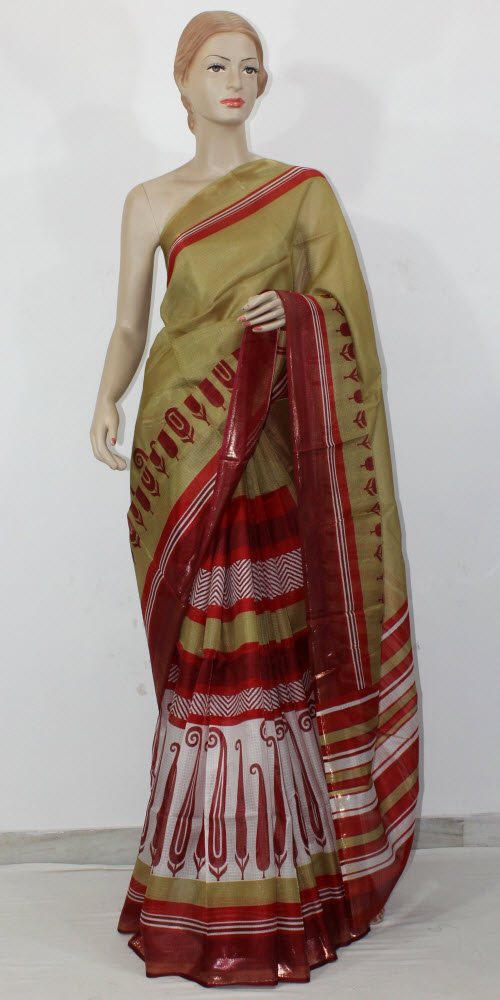 Exclusive Manipuri Check (Half-Half) Saree 11336