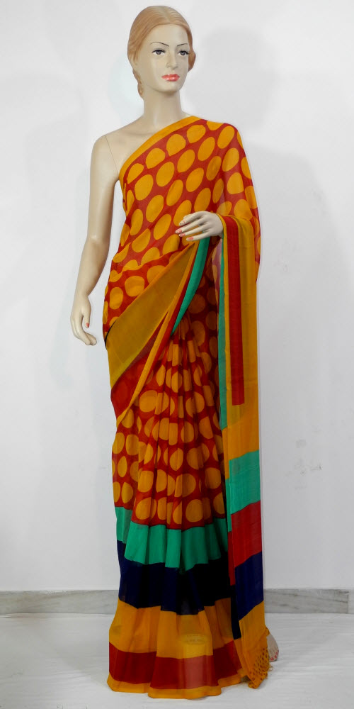 Printed Faux Georgette Saree 11384