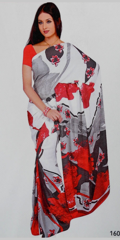 Art Crepe Silk Printed Designer Saree 11407