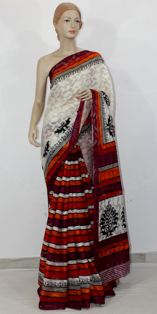 Exclusive Brasso Art Silk Saree 11441
