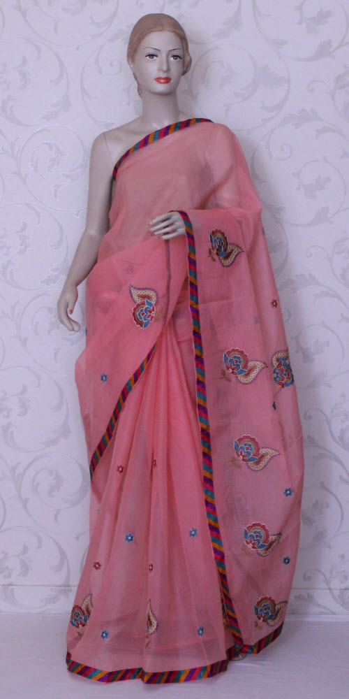 Embroidered Kota Saree (Supernet) 11867