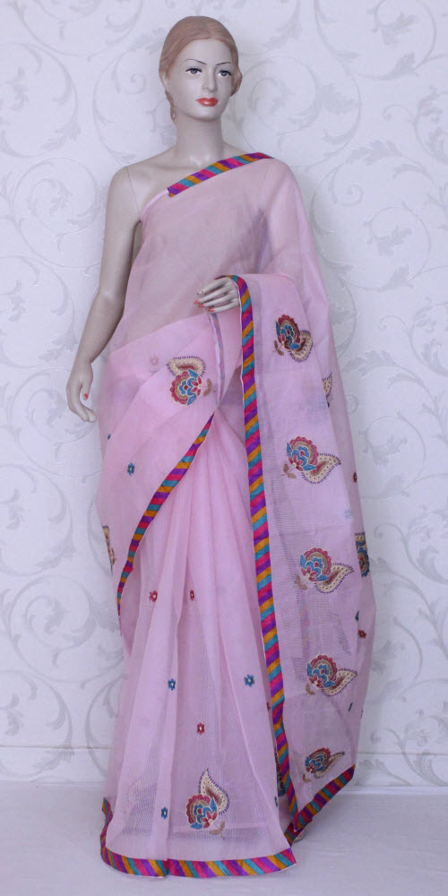 Embroidered Kota Saree (Supernet) 11868