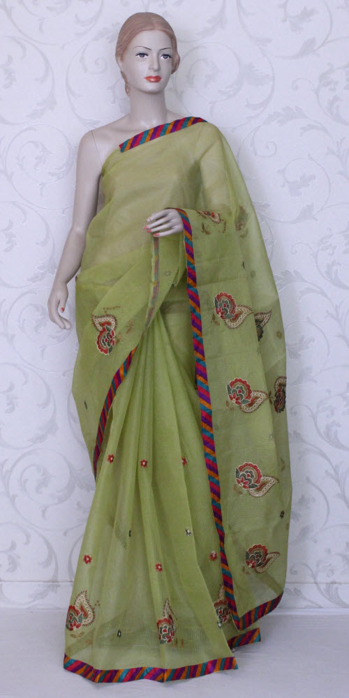 Embroidered Kota Saree (Supernet) 11869