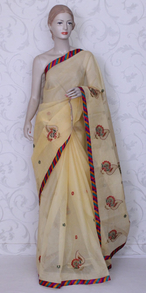 Embroidered Kota Saree (Supernet) 11870