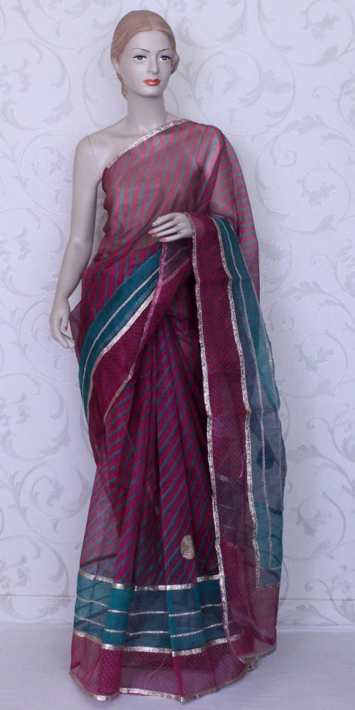 Traditional Kota Supernet Saree (Gota-Patti) 11889