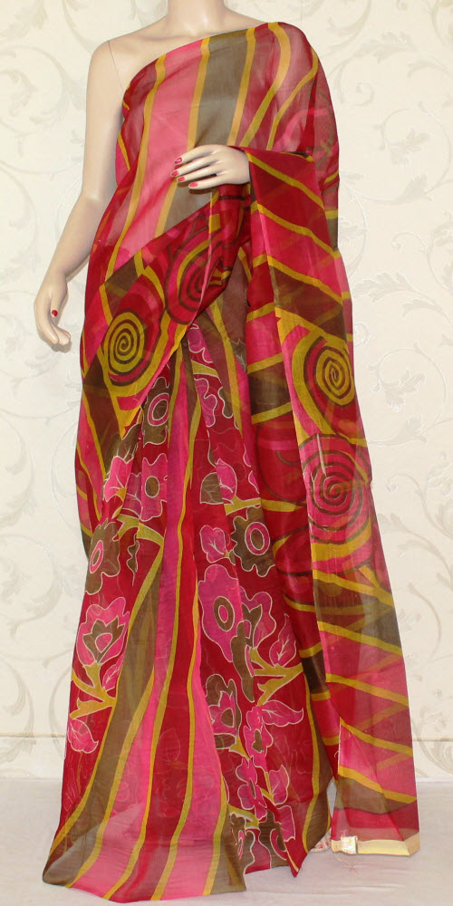 Exclusive Supernet Saree (Printed) 11904