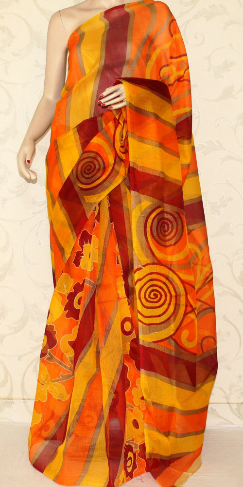 Exclusive Supernet Saree (Printed) 11905