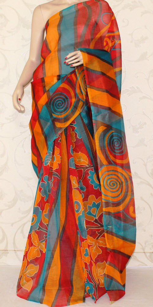 Exclusive Supernet Saree (Printed) 11906