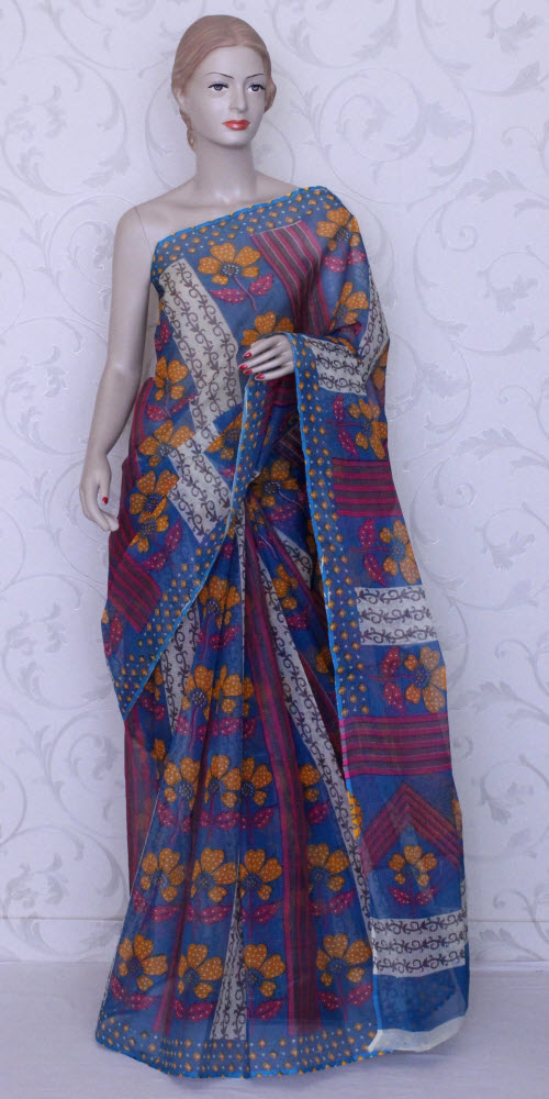 Real JP Kota Doria Printed Cotton Saree 11919