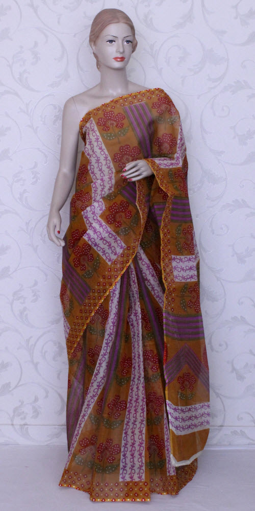 Real JP Kota Doria Printed Cotton Saree 11920