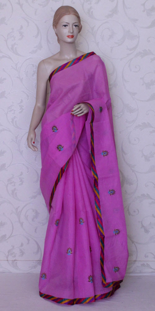 Embroidered Kota Saree (Supernet) 11955