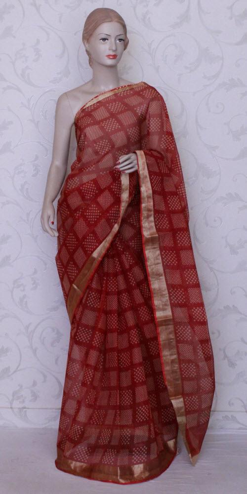 buy zari kota sarees online pure zari kota sarees trendy. Black Bedroom Furniture Sets. Home Design Ideas