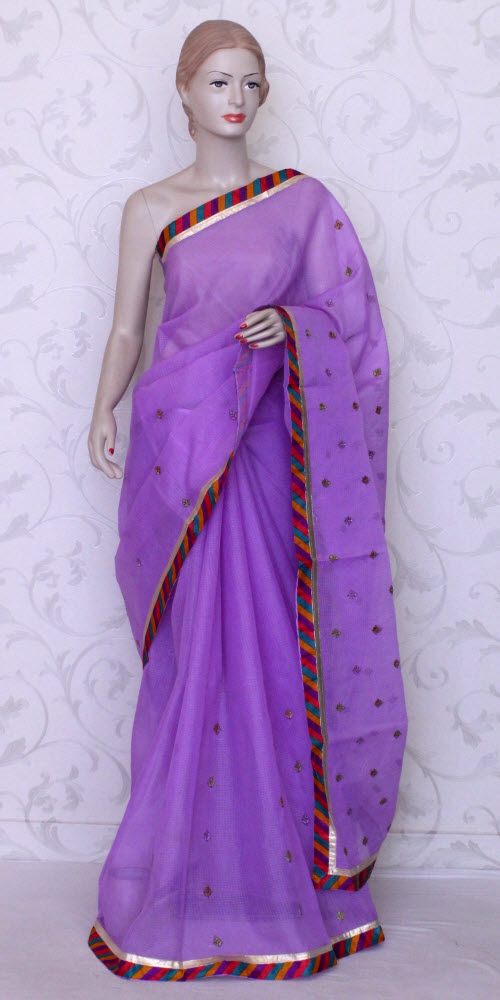 Embroidered Kota Doria Saree (Supernet) 11990