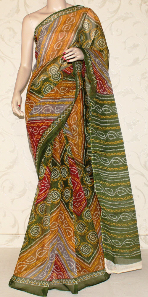 Real JP Kota Doria Printed Cotton Saree 12463